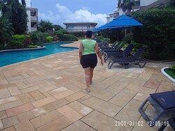 Viewing the beautiful surroundings at tropikist Tobago.