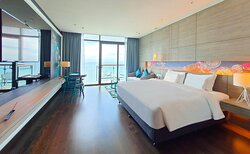 Premier Room with balcony and sea view.