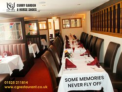 Some memories never fly off! Make every weekend memorable at Curry Garden & Horse Shoes!😍😍
