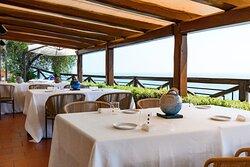 La terrazza del ristorante Vescovado