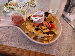 The half order of nachos was plenty for me and it was tasty.