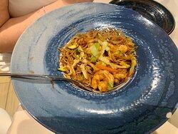 Bokok - PIATTI - Spaghetti di riso saltati con gamberi e verdure: davvero ottimi!