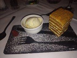 Russian Honey Cake; highlight of the menu