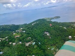 Tropical Hideaway as seen from a small plane