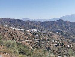 Vistas panorámicas de la localidad de Moclinejo.