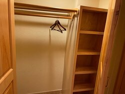 One of three closets in the one bedroom.  Only one had a safe.