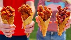 Our Crispy Chicken Cones!