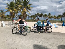 Rent a bike and roll down the boardwalk and explore Crandon Park.