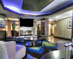 Spacious lobby with sitting area