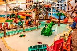 Hotel's indoor water park