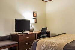 Spacious room with flat-screen television