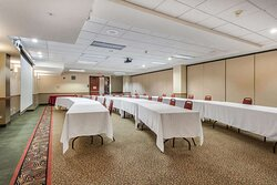 Banquet meeting room with audiovisual equipment