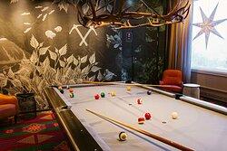 Scandic Ferrum Interior lounge billiard table Sols