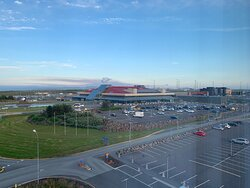 Airport Hotel Aurora Star, Keflavik Airport, Iceland: view of the airport terminal from the room