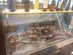 pesce fresco tutti i giorni(il frizzer arriva vuoto a mezzogiorno e lo riforniscono tutti i giorni)