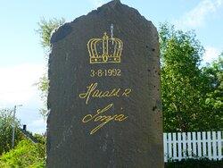 Kong Harald 5 og dronning Sonja har vore her