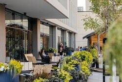 Our seasonal outdoor dining patio is now open (weather permitting).