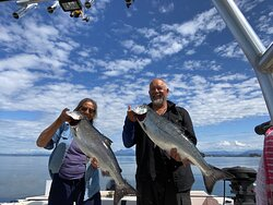 Back to Back Chinooks out of Alder Bay in Blackfish Sound