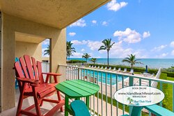 Condo 206 at Island Beach Resort has ocean views and the property has an onsite restaurant called Shuckers