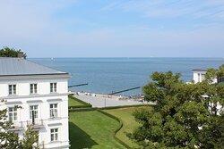 Blick von der Dachterrasse Severin Palais