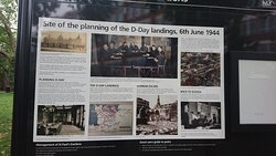 In the now demolished school behind D-Day was planned - this is the information board from the local council in the park
