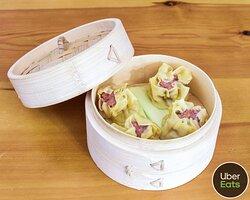 Siomai, o dumplings estilo filipino de cerdo y gambas