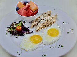 Two Eggs Any Style with Fruit