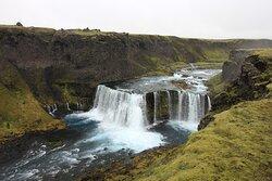 Axlarfoss waterfall in Iceland highlands