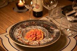 Spaghettone di Gragnano al sugo di peperoncino