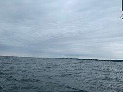 Waves 🌊 lake views from sailing boat