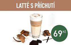Latte Macchiato with coffee flavor 69,- CZK