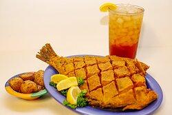 Fried Whole Flounder