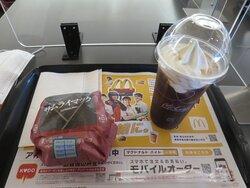 ハンバーガーとコーヒーフロート