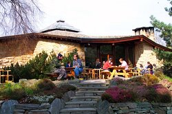 Lovely atmosphere, next to the Universal Hall in the famous Findhorn Ecovillage Community.