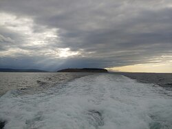 Departing Protection Island heading home to Edmonds.
