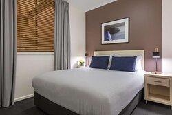 Interior view of bedroom in One Bedroom Suite