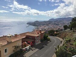 Panoramic views of Funchal from the Swimming Pool;