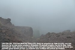 Crater volcan Martin