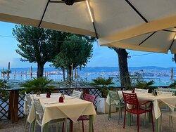 Terrasse der Bar Ristorante Bagno San Rocco