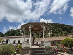 Front of band stand in Plaza Revolucion Mexicana.