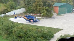 Helicopter Bell 429 at Kyiv Helipad