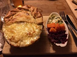 Lamb and mint pie