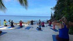 6am yoga class with the fabulous Chamu