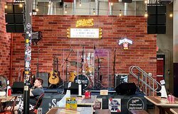 Stage for live bands and entertainment