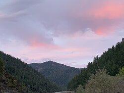 Beautiful sunset on night 1