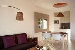 Two Bedroom Apartment Living room and kitchenette