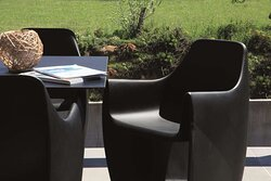 Terrace seating area