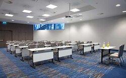 Room A with classroom setup