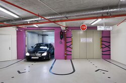 Hotel parking Garage with Car