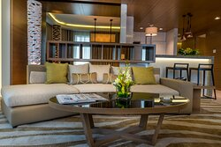 Premium One Bedroom Apartment Living Area